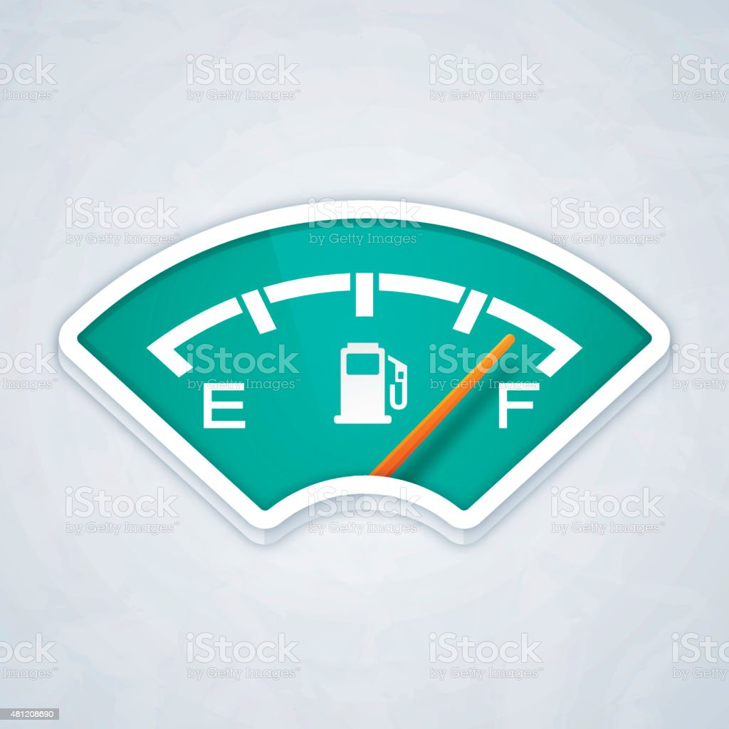 Full Fuel Gauge vector art illustration