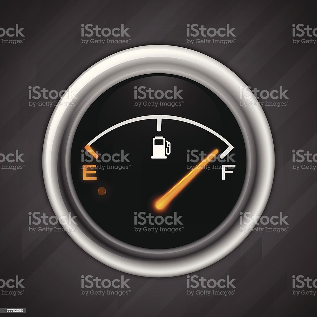 Full Gas Gauge vector art illustration