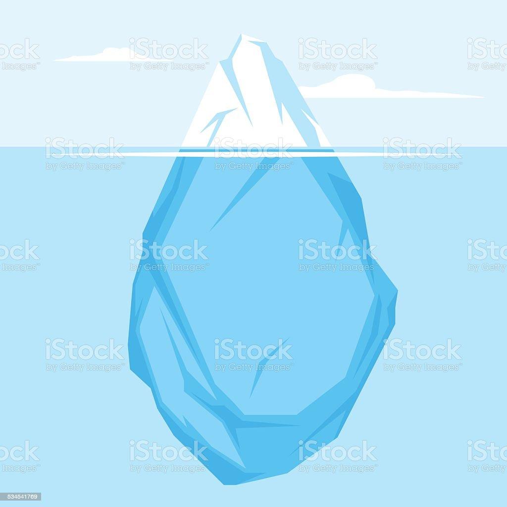 Full Iceberg flat vector art illustration