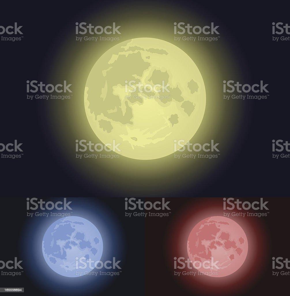 Full Moon Background royalty-free stock vector art