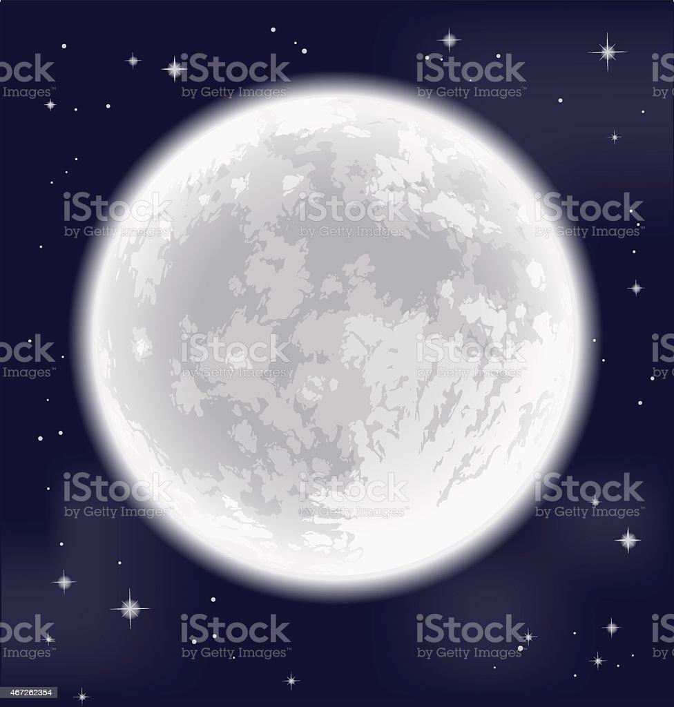 Full moon. Freehand drawing. Detailed vector illustration. vector art illustration