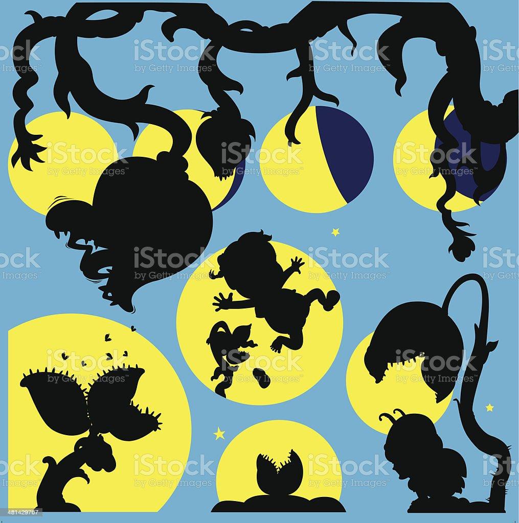 Luna piena Fame illustrazione royalty-free