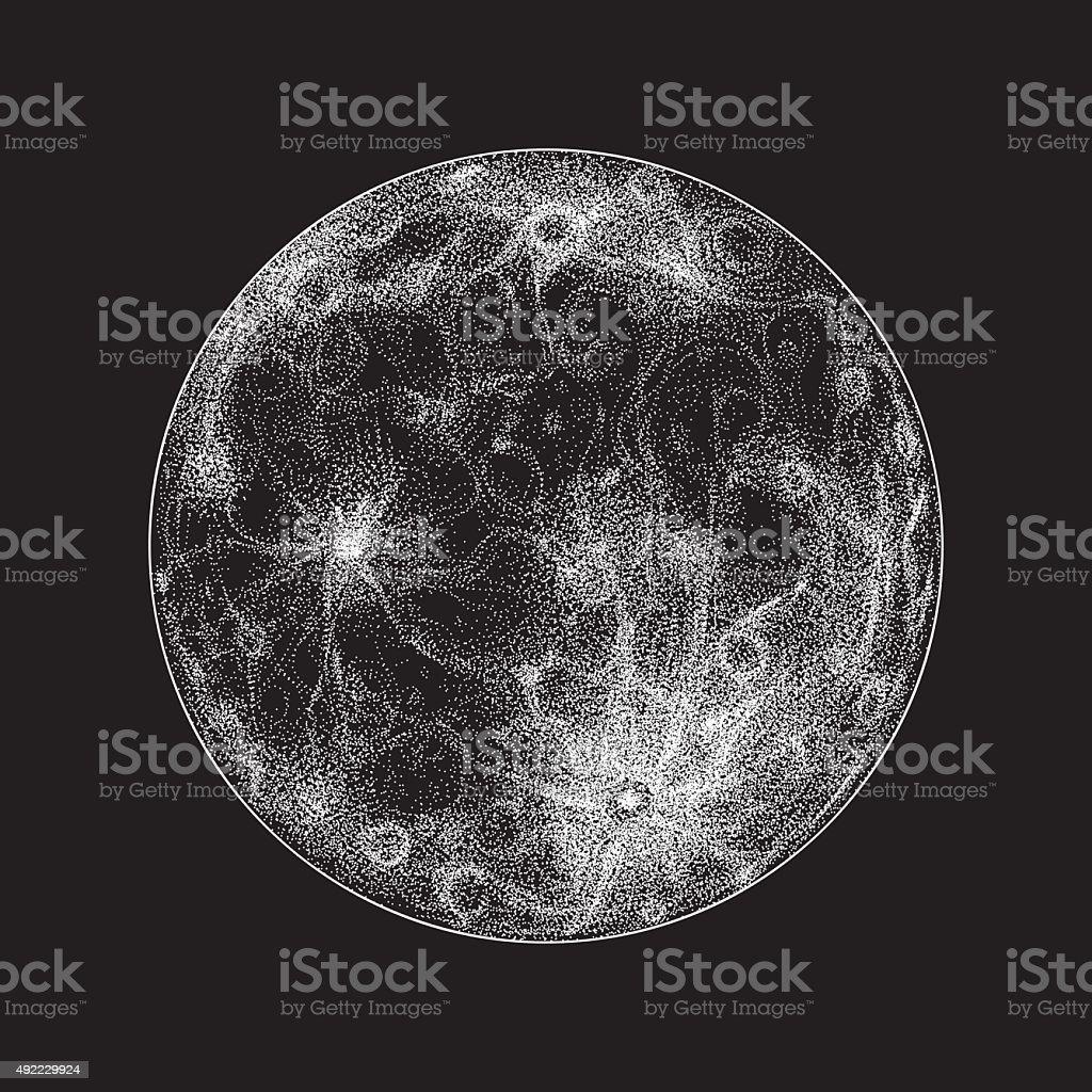 Full moon illustration vector art illustration