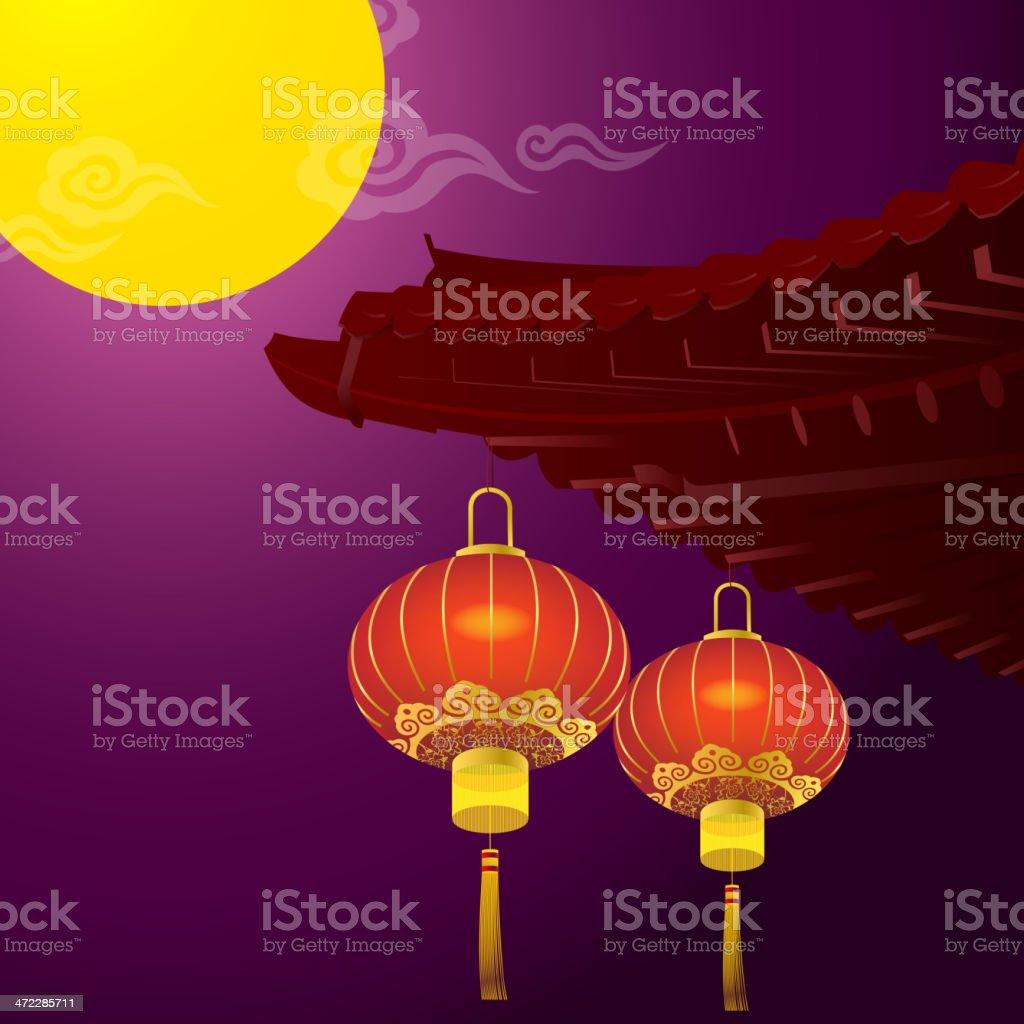 Full Moon in Mid-Autumn royalty-free stock vector art