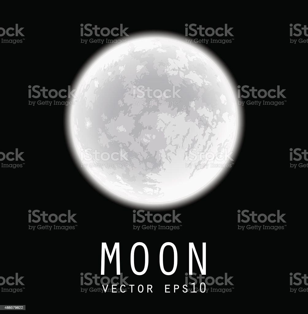 Full moon. Vector illustration. vector art illustration