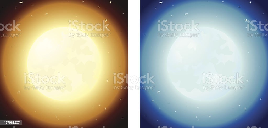 Full Moons royalty-free stock vector art
