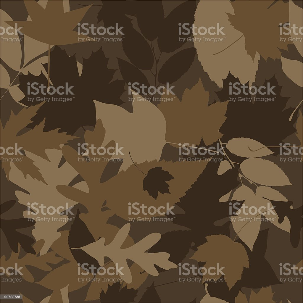 Full repeat of brown camouflage pattern vector art illustration