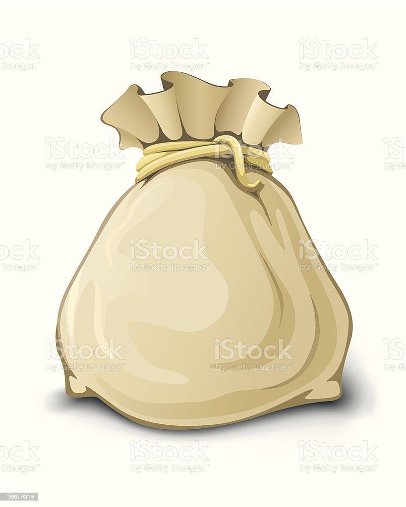 full sack isolated vector illustration royalty-free stock vector art