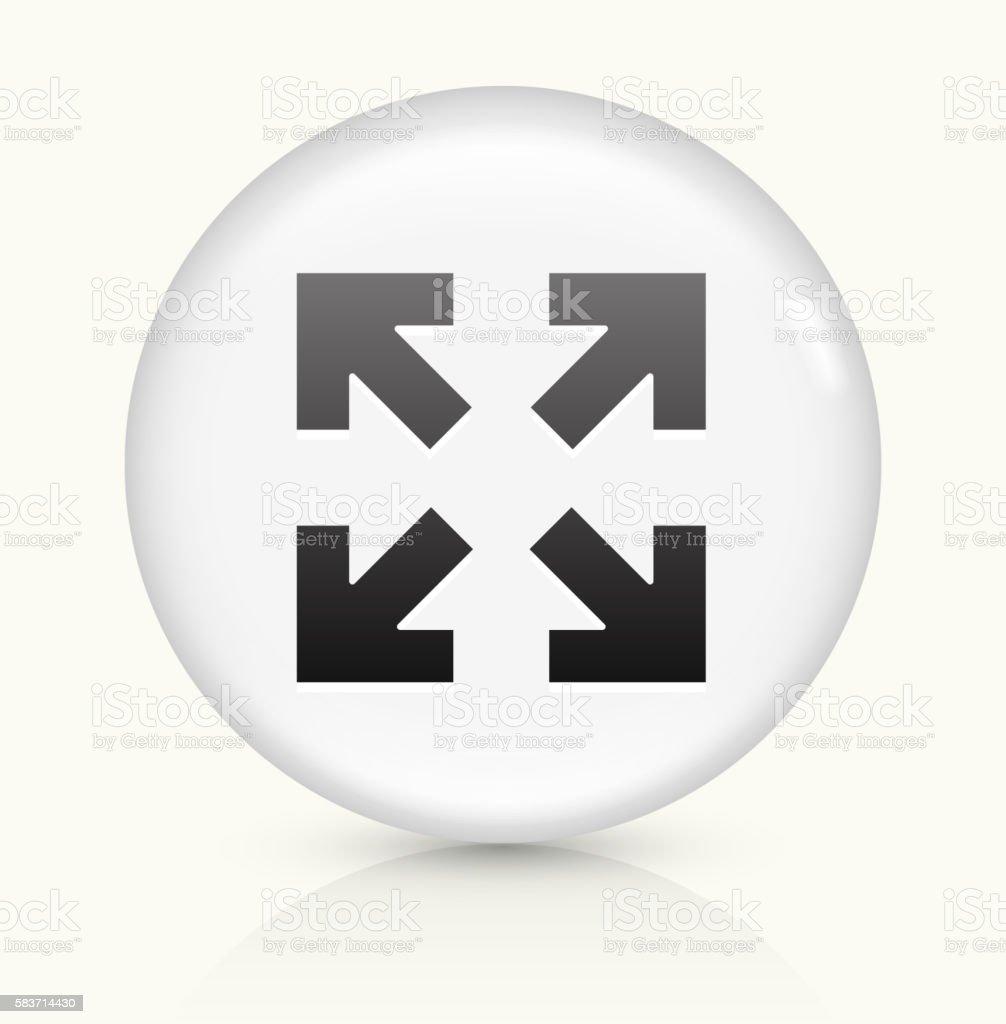 Full Screen Arrows icon on white round vector button vector art illustration