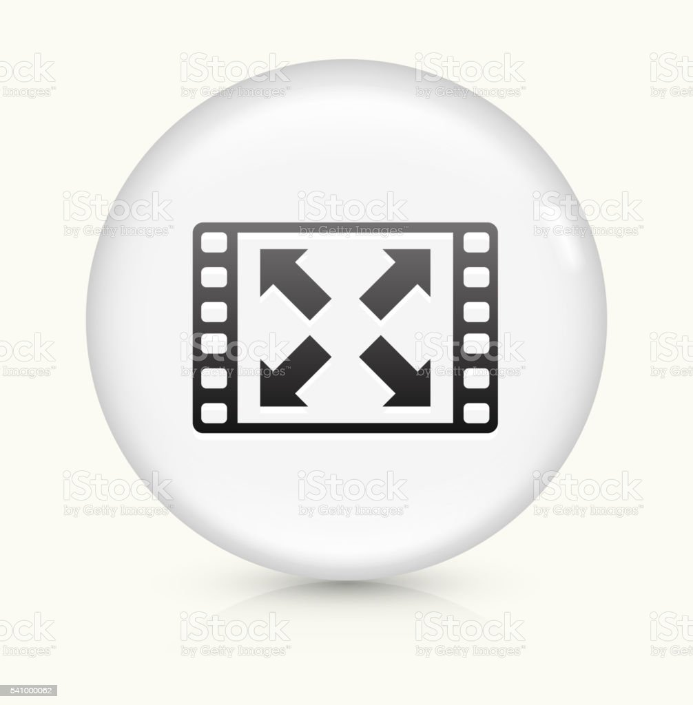 Full screen icon on white round vector button vector art illustration
