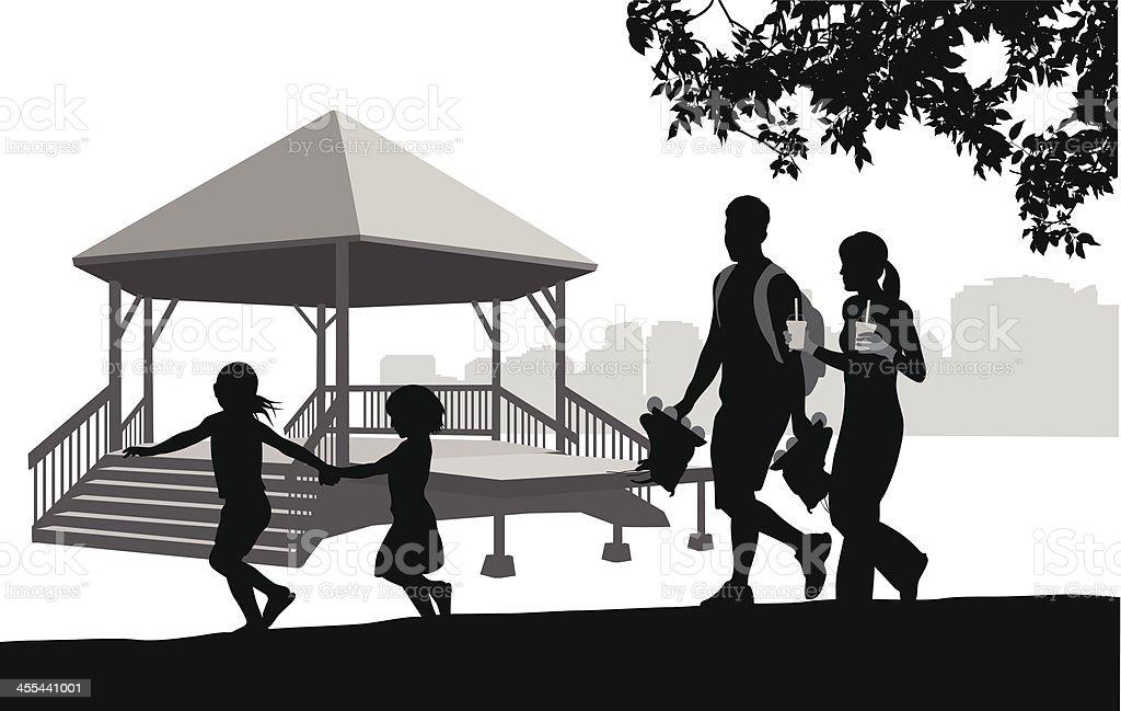 Fun Activities vector art illustration