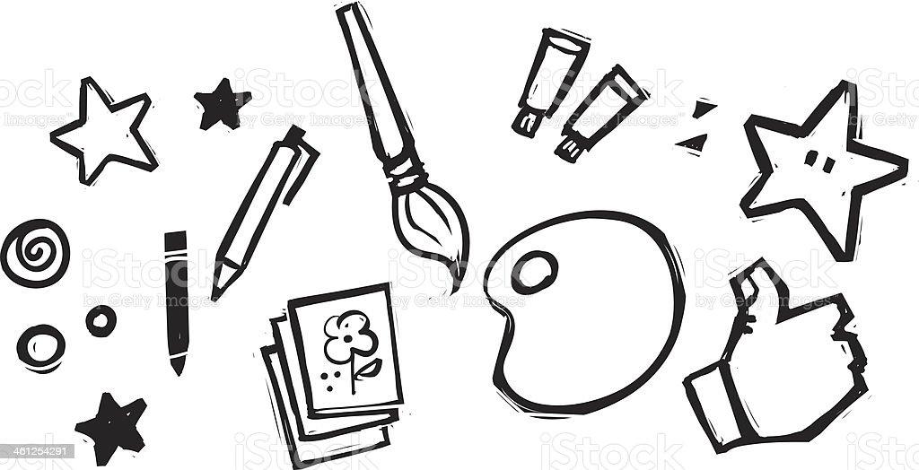 Fun Arts & Crafts vector art illustration