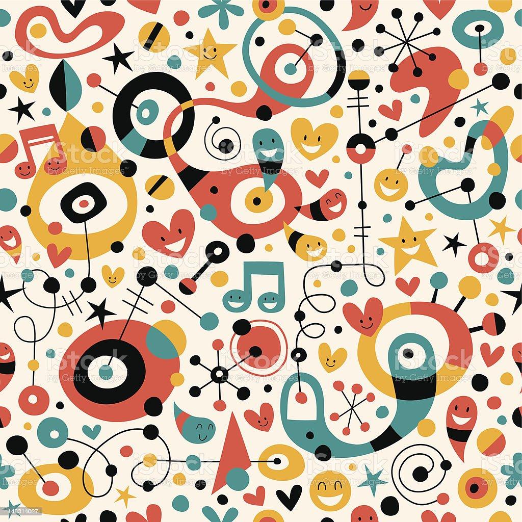 fun cartoon pattern royalty-free stock vector art