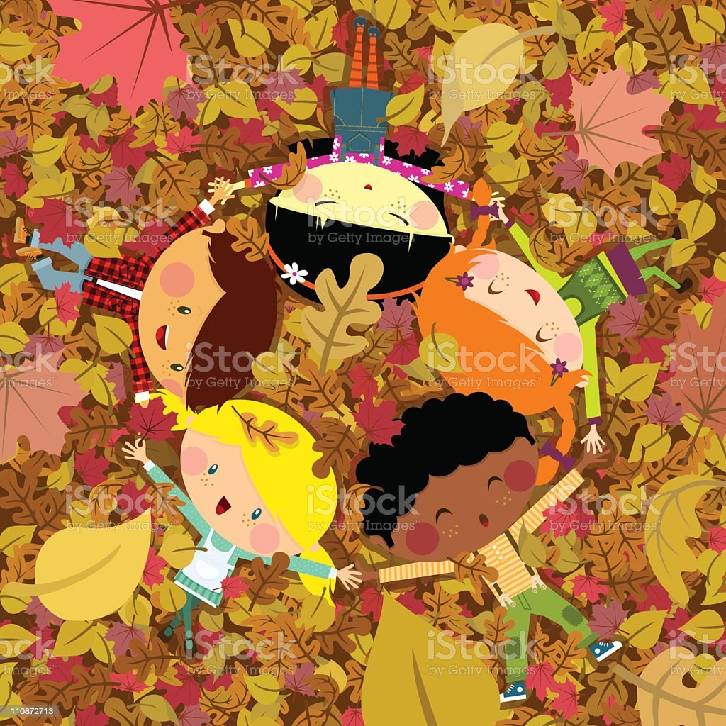 Fun fall vector art illustration