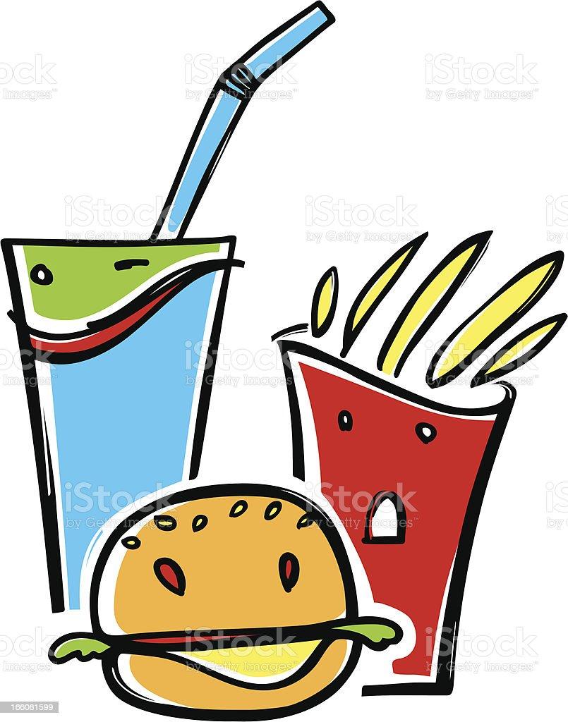 fun food royalty-free stock vector art