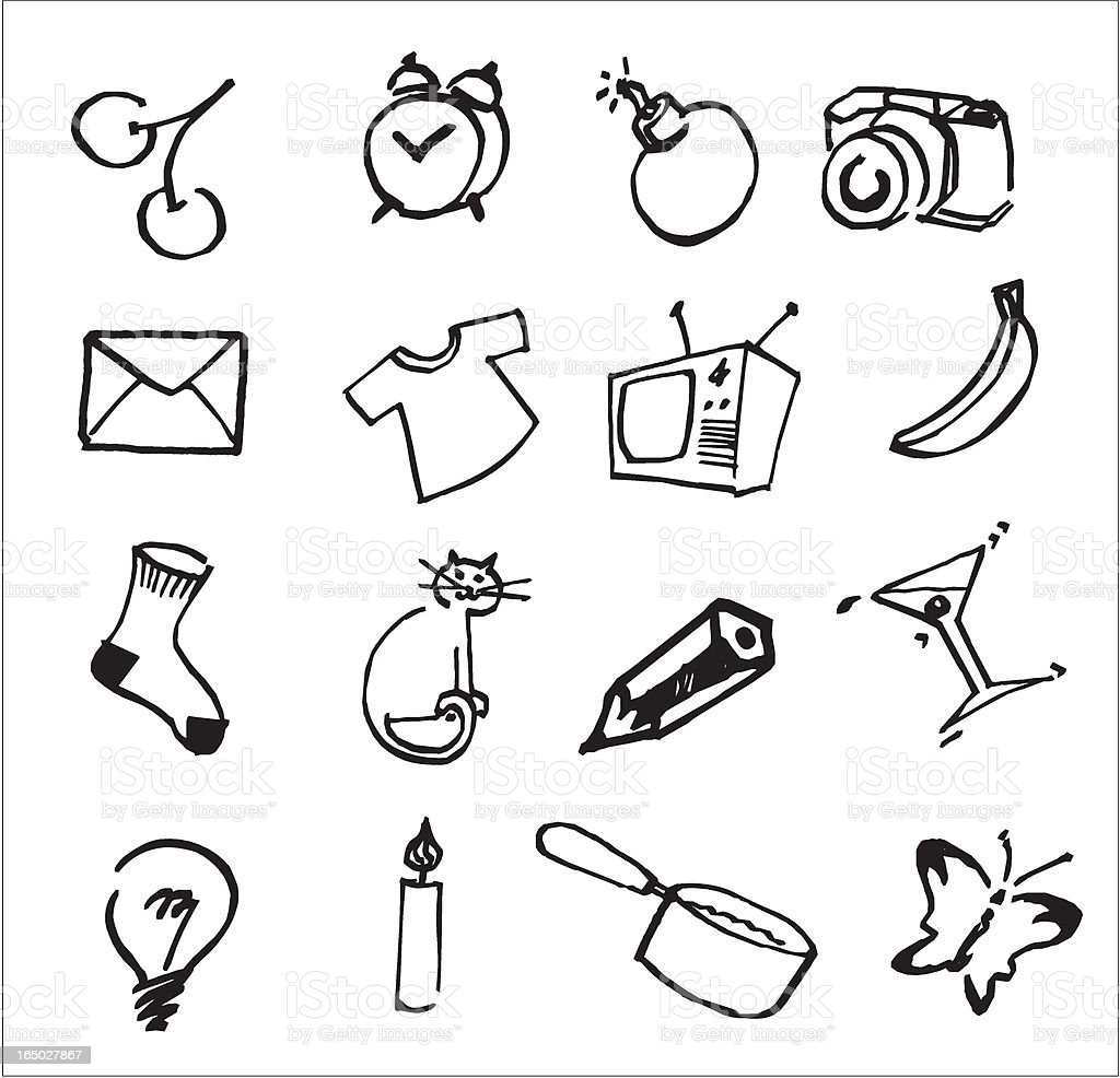 fun house assorted icons royalty-free stock vector art