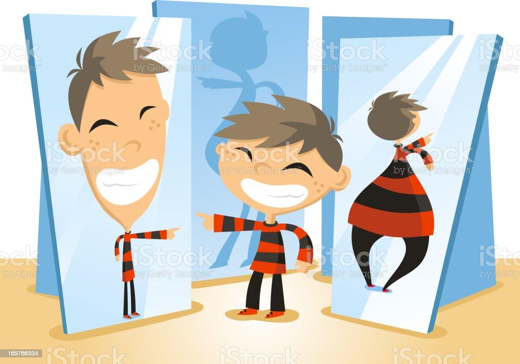 Fun Mirror House vector art illustration