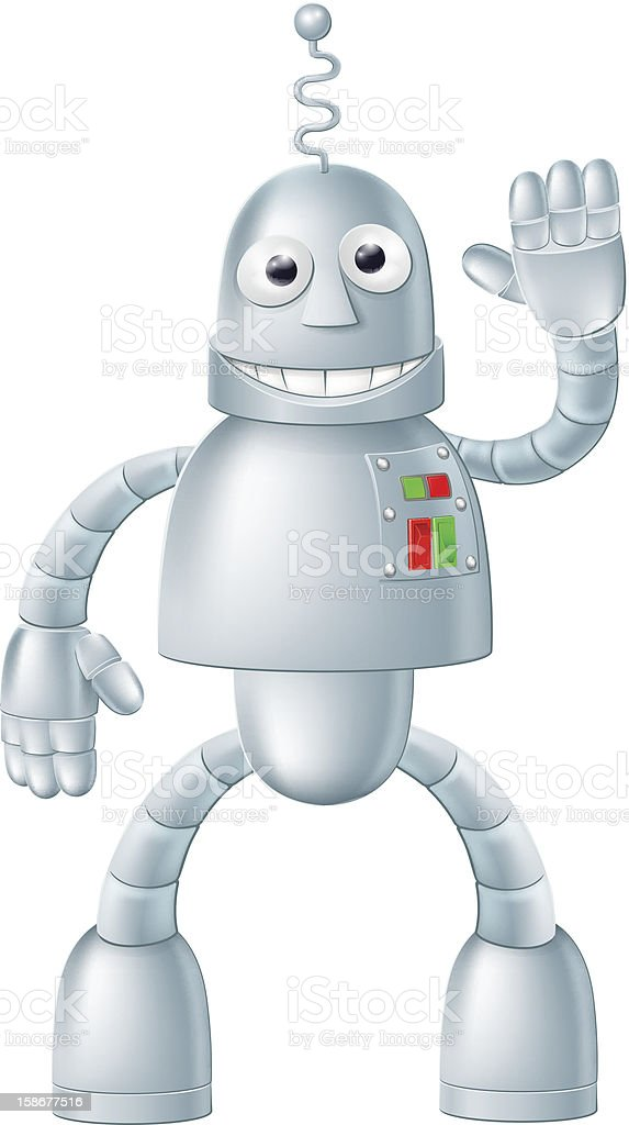 Fun Robot Charcater royalty-free stock vector art