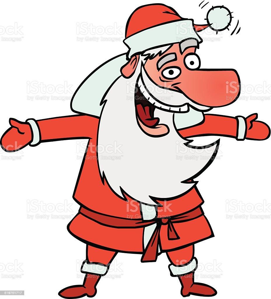 fun Santa vector art illustration