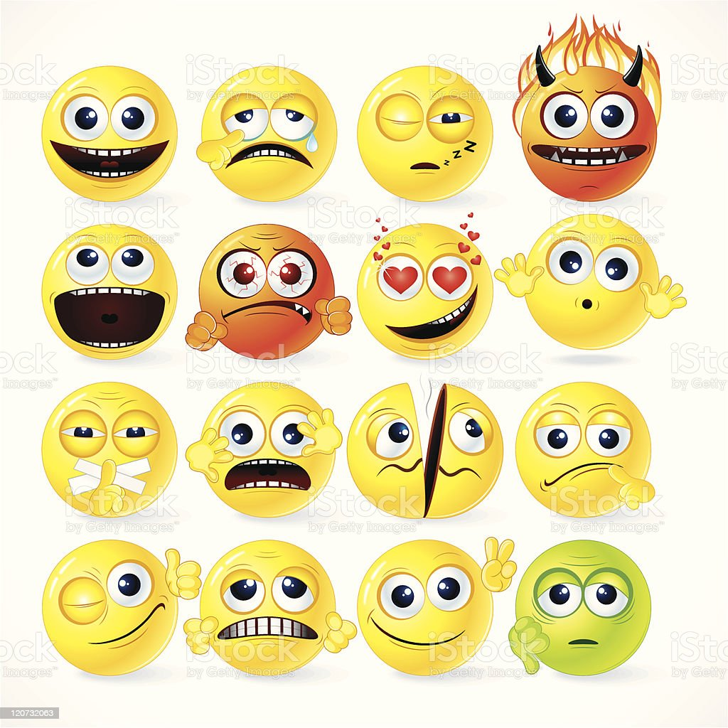 Fun Smileys vector art illustration