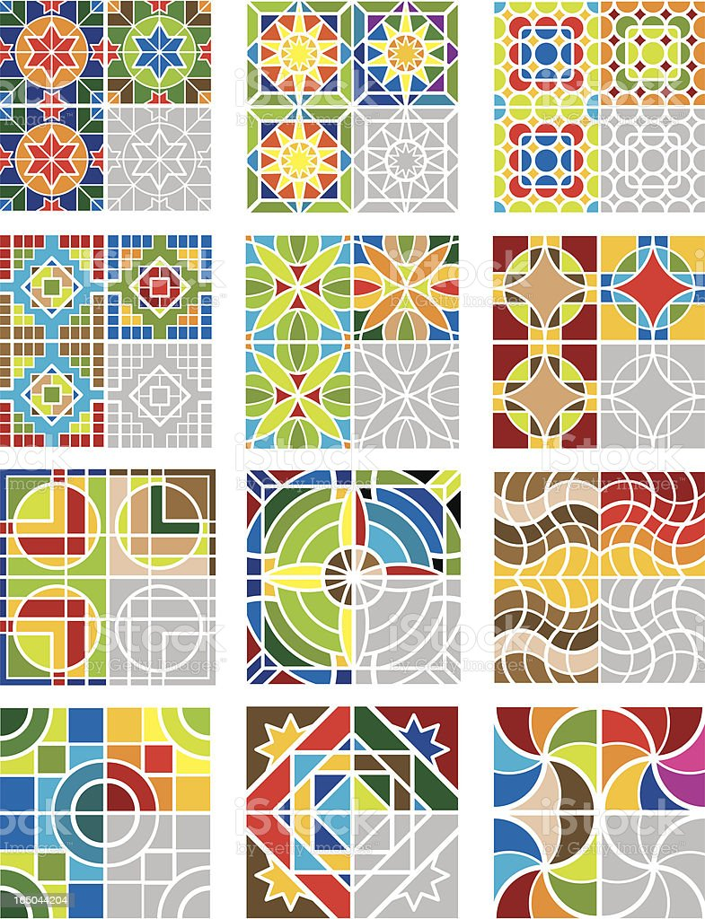 fun tiling art vector art illustration