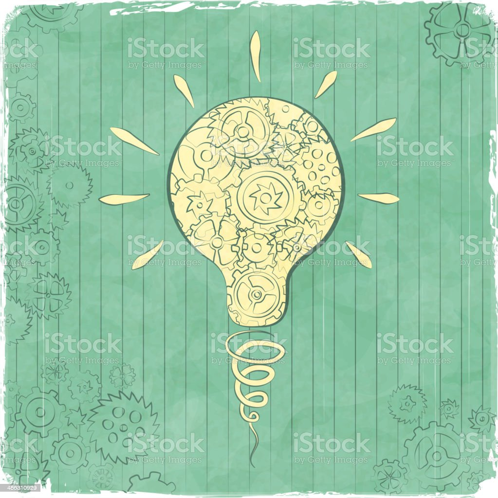 Functioning idea doodle royalty-free stock vector art
