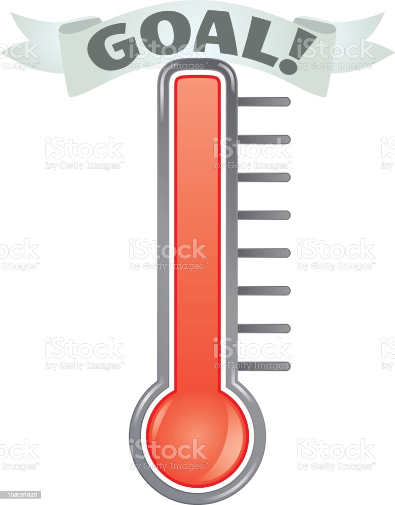 Fundraising Thermometer vector art illustration