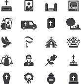 Funeral Silhouette Icons | EPS10