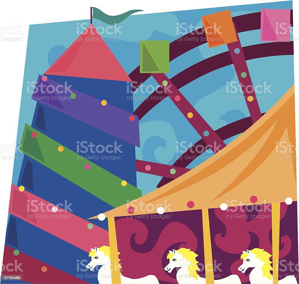 Funfair royalty-free stock vector art