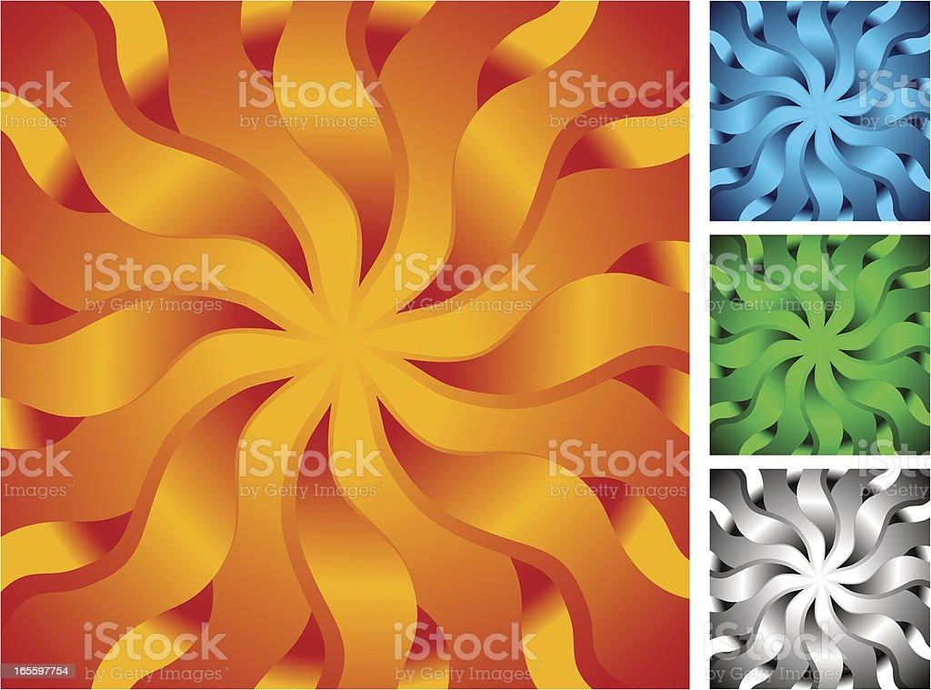 Funhouse Flower royalty-free stock vector art