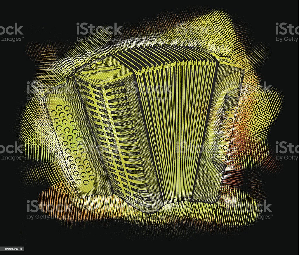 Funky Accordion royalty-free stock vector art