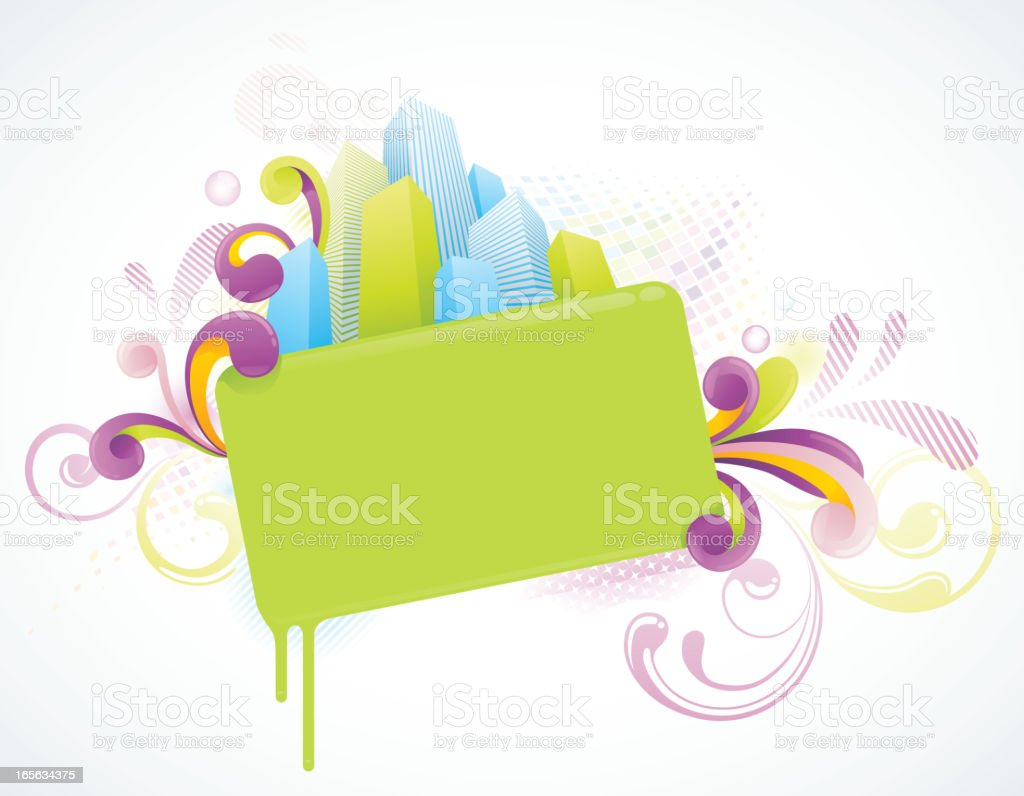 Funky Banner Background royalty-free stock vector art