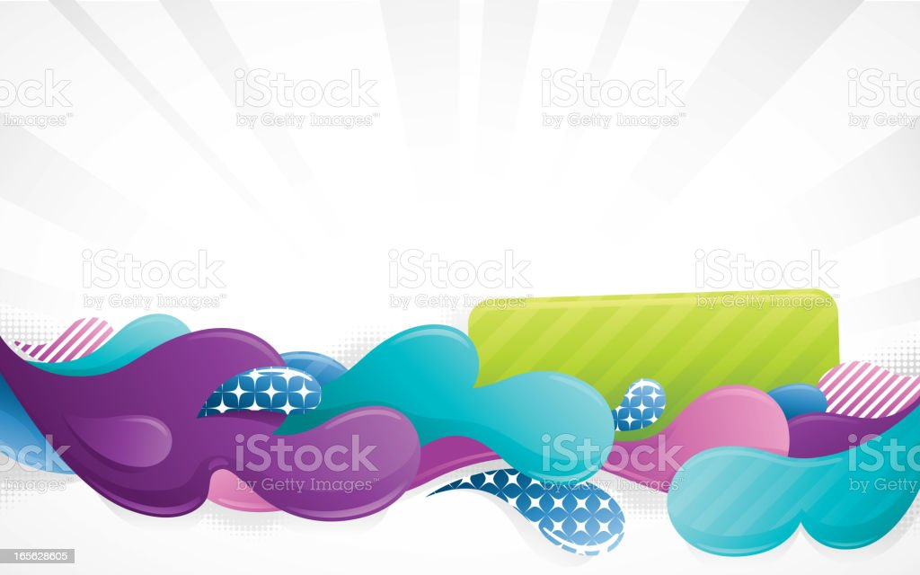 Funky Blob Background royalty-free stock vector art