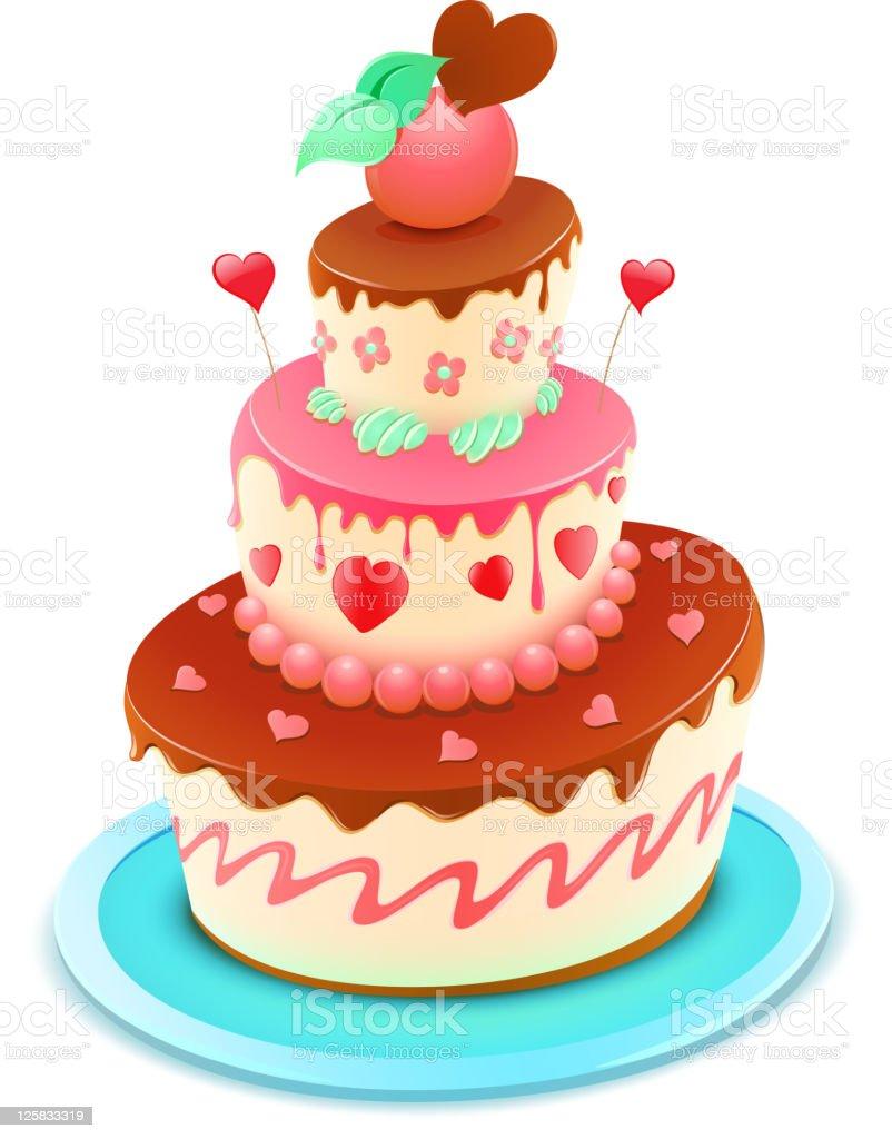 funky cake vector art illustration