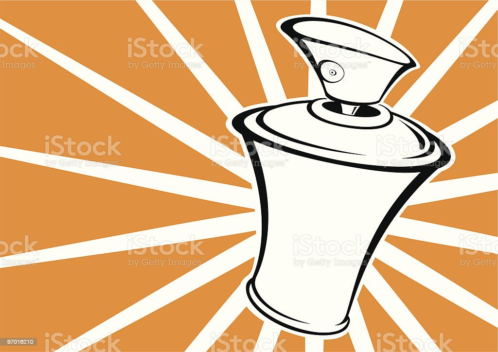 funky can vector art illustration