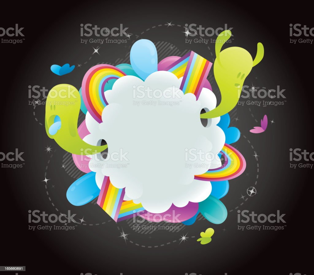 Funky Cloud Frame royalty-free stock vector art