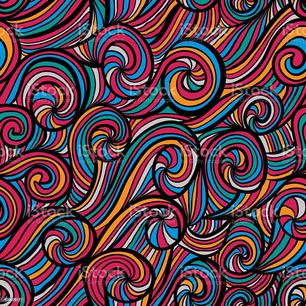Funky colorful seamless pattern. vector art illustration