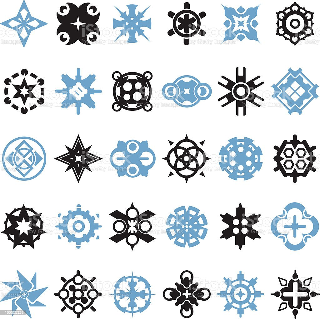 Funky Design Elements royalty-free stock vector art