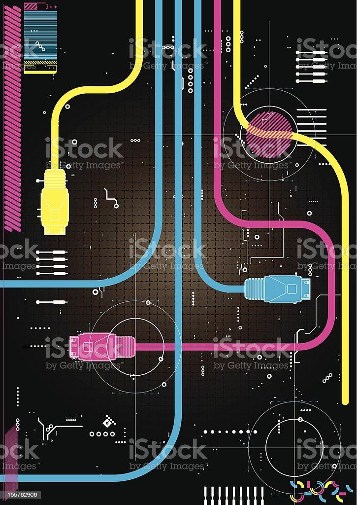 Funky design template for the digital age. vector art illustration