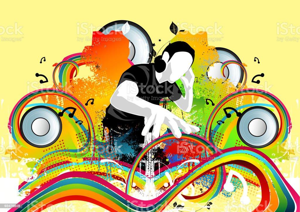 Funky Disco Beats royalty-free stock vector art