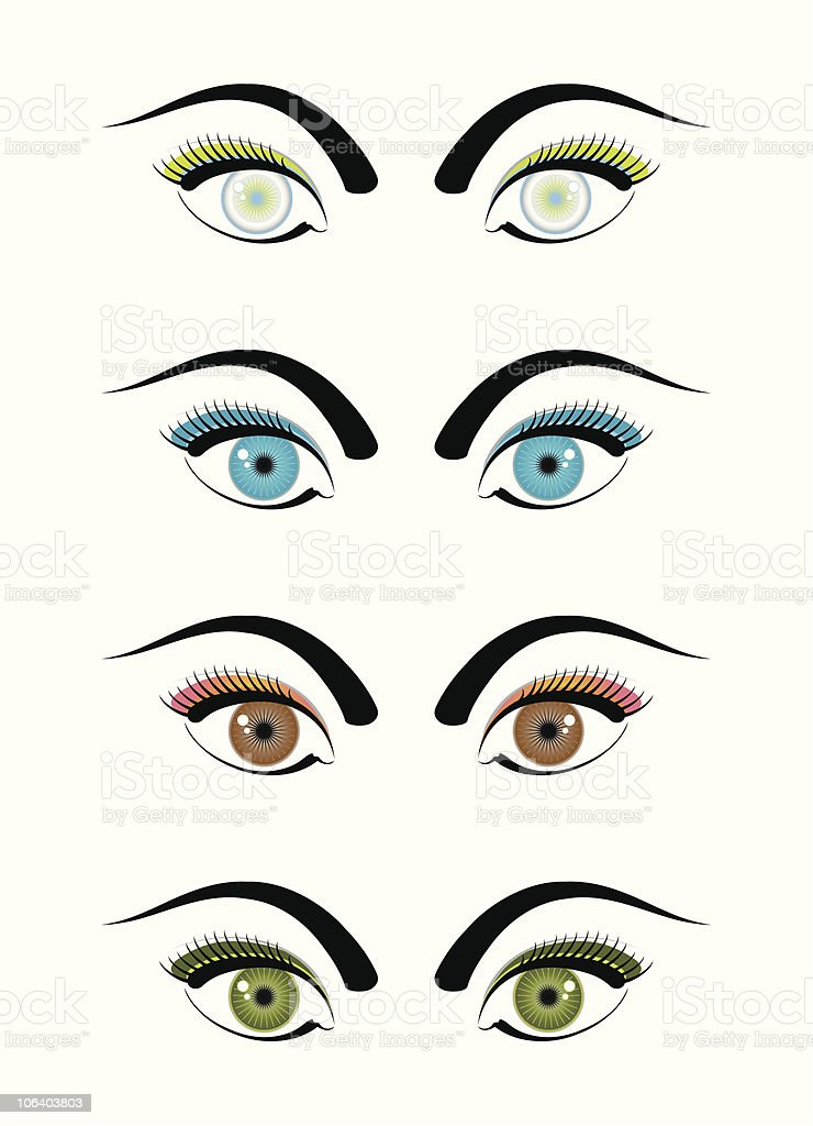 Funky Eyes vector art illustration