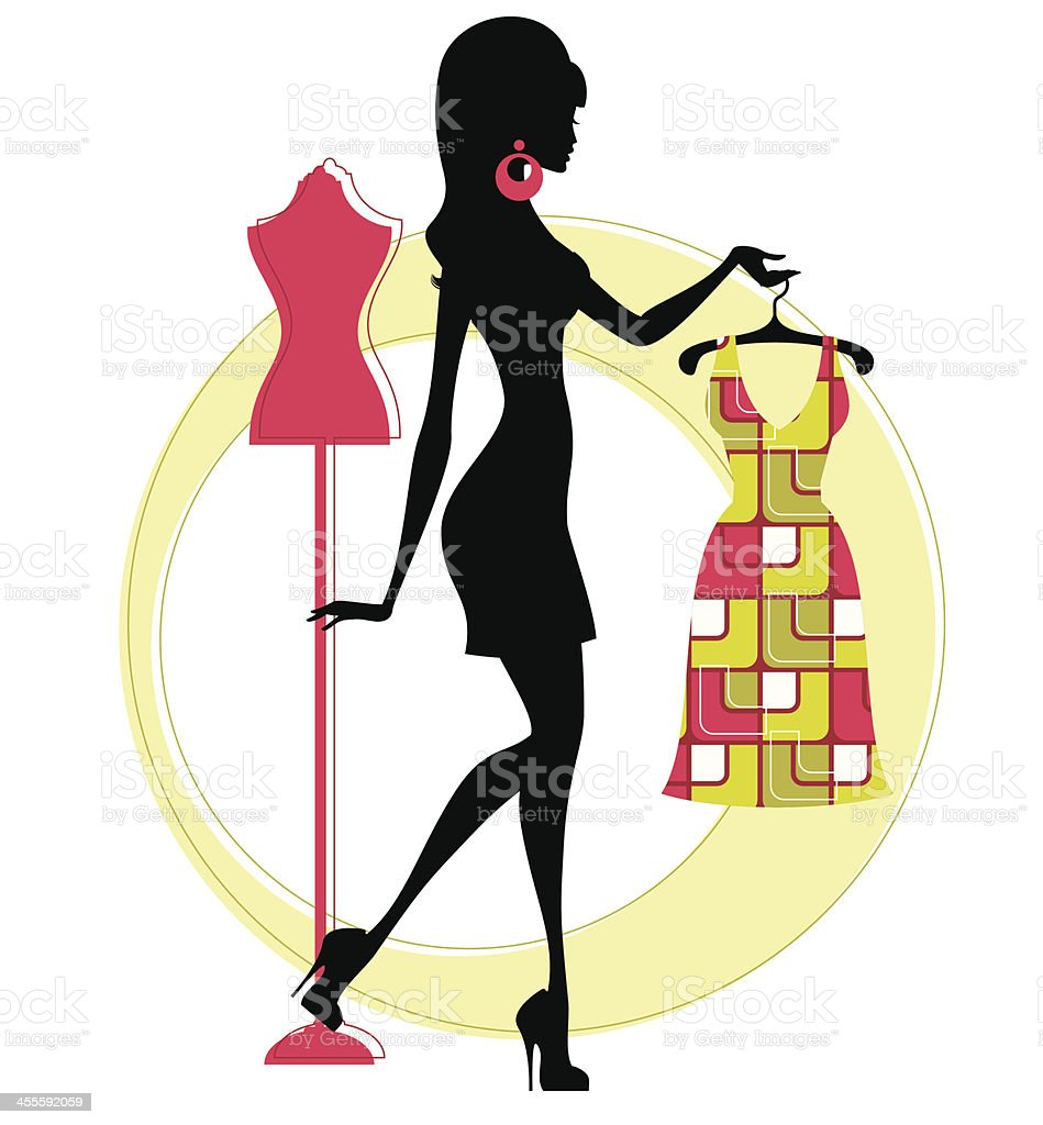 Funky Fashionista vector art illustration