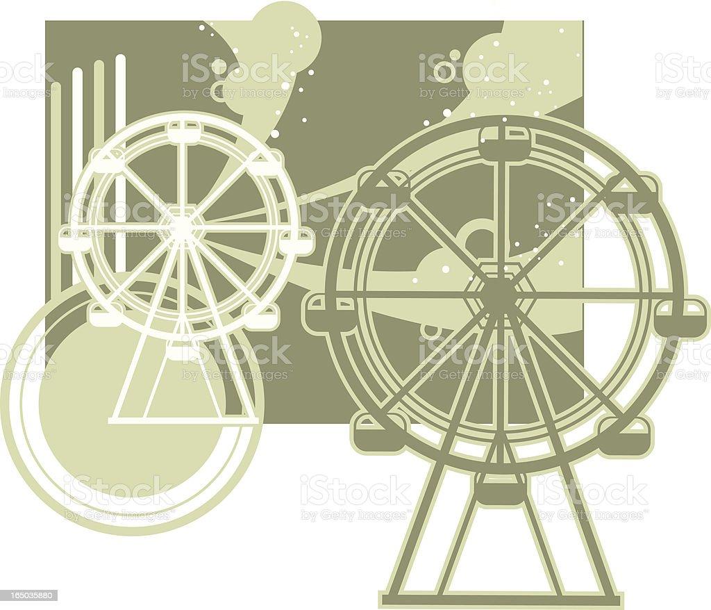 funky ferris wheel royalty-free stock vector art