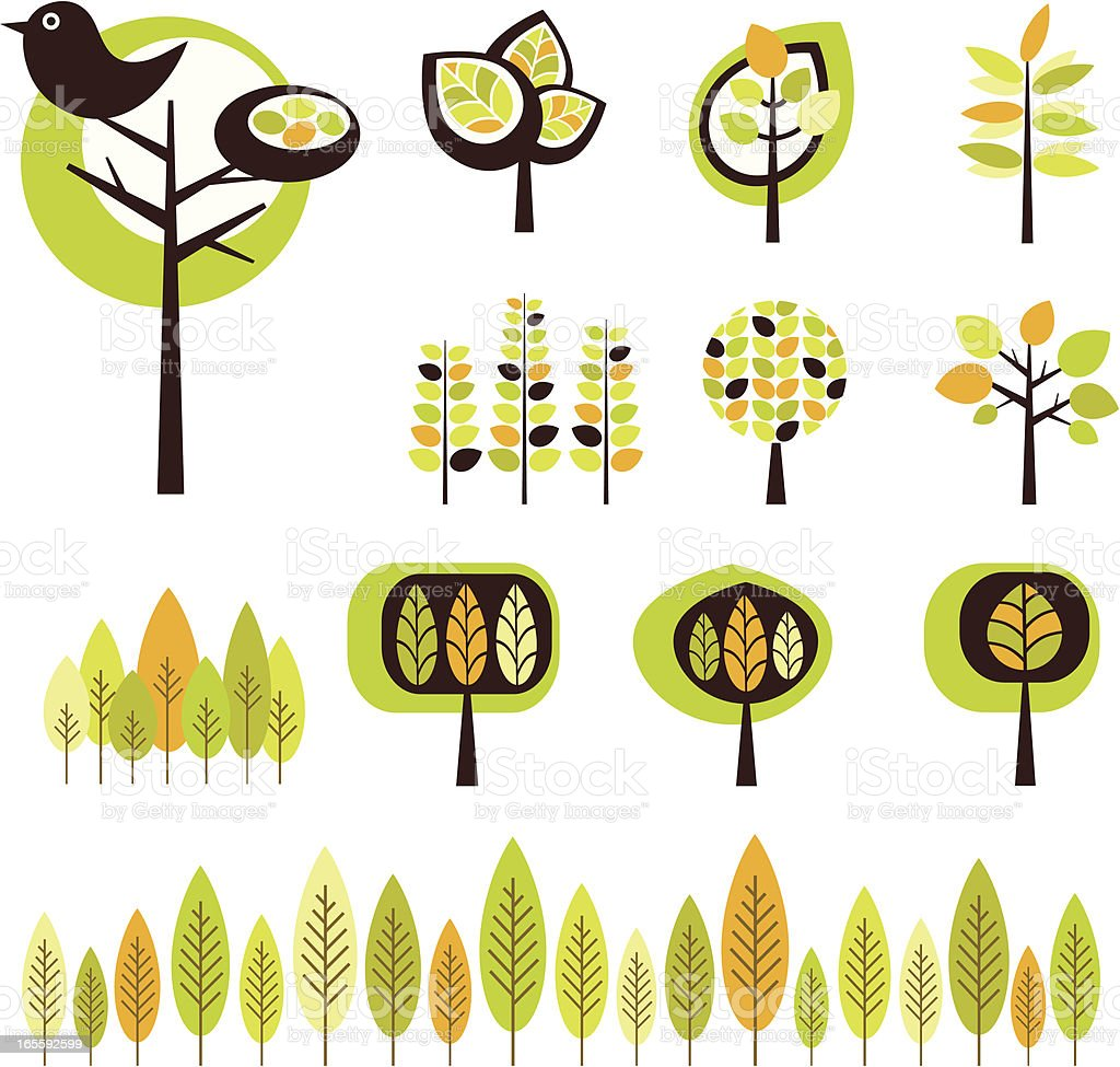 Funky Forest royalty-free stock vector art