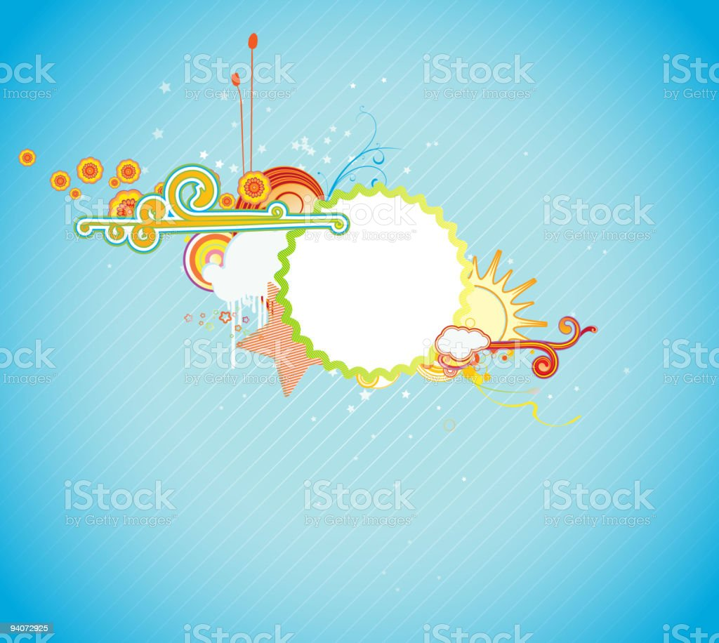 funky frame royalty-free stock vector art