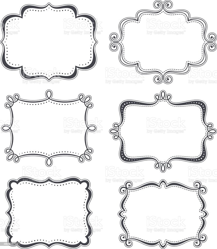 Funky Frames royalty-free stock vector art
