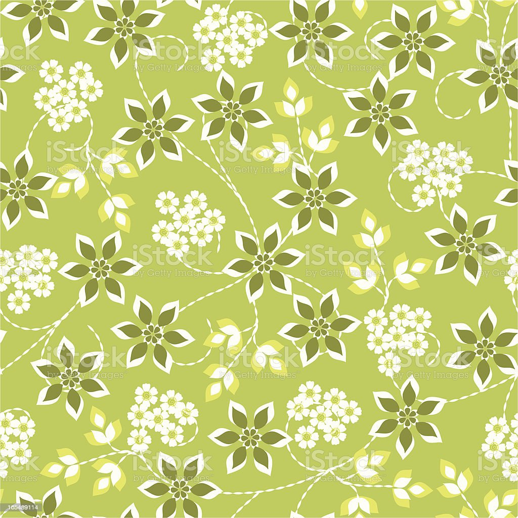 Funky green flowers royalty-free stock vector art
