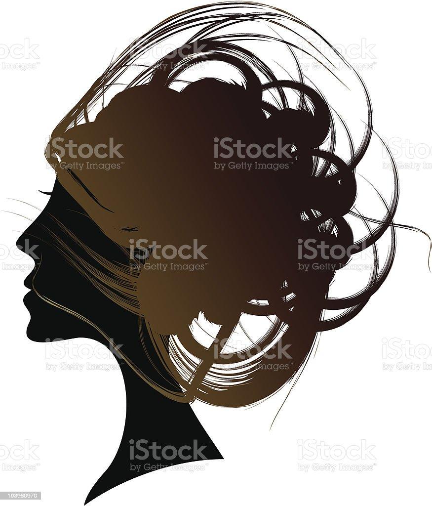 Funky Hair Salon Design royalty-free stock vector art
