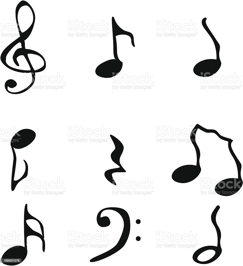 Funky music notation royalty-free stock vector art