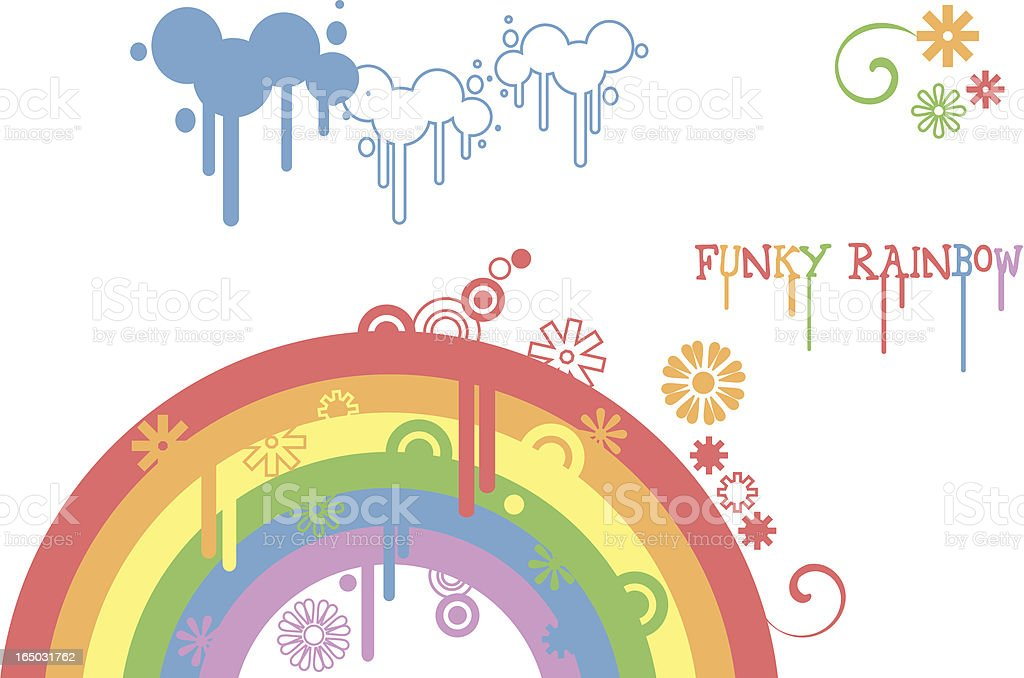 funky rainbow element royalty-free stock vector art
